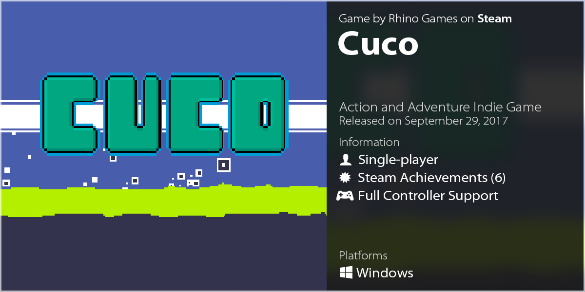 LazyGuysBundle – Steam game Cuco by Rhino Games