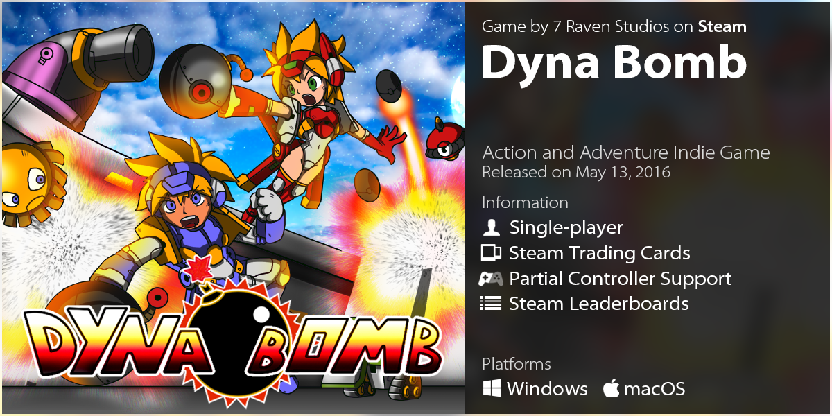 LazyGuysBundle – Steam game Dyna Bomb by 7 Raven Studios