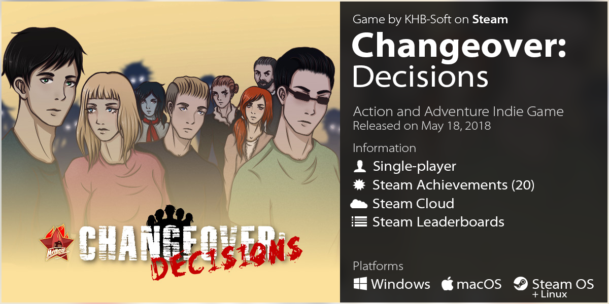 LazyGuysBundle – Steam game Changeover: Decisions by KHB-Soft